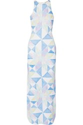 Mara Hoffman Printed Stretch Modal Jersey Maxi Dress Sky Blue