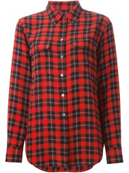 Equipment Checked Shirt Red