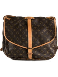 Louis Vuitton Vintage 'Saumur 35' Shoulder Bag Brown