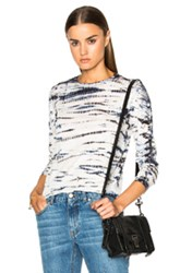 Proenza Schouler Tie Dye Tissue Jersey Long Sleeve Tee In Blue White Ombre And Tie Dye Blue White Ombre And Tie Dye