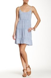 Socialite Babydoll Dress Blue