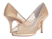Caparros Future Gold Metallic Mesh High Heels