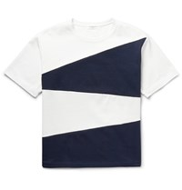 Tomorrowland Panelled Cotton Jersey T Shirt White