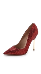 Kurt Geiger Britton Glitter Pumps Red