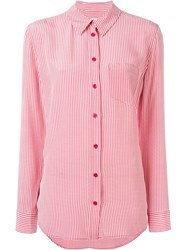 Equipment Gingham Print Shirt Red