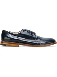 Premiata Stacked Heel Derby Shoes Blue