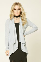 Forever 21 Heathered Open Front Cardigan