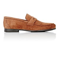 Harry's Of London Harrys Men's Suede James Penny Loafers Brown Tan Brown Tan