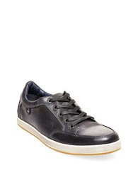 Steve Madden Partikal Perforated Leather Sneakers Black