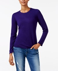 Charter Club Cashmere Crew Neck Sweater Only At Macy's Wine