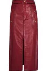 Chloe Leather Pencil Skirt Claret