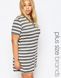 Pink Clove Striped Polo Dress Multi