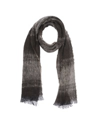 Daniele Alessandrini Oblong Scarves Dark Brown