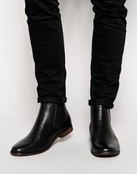 New Look Chelsea Boot In Leather Black