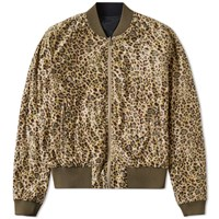 Dries Van Noten Vinnie Reverse Leopard Bomber Brown