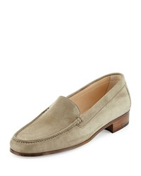 Gravati Suede Venetian Loafer Taupe Brown Size 35.0B 5.0B
