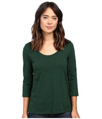 Mod O Doc Slub Jersey 3 4 Sleeve Scoopneck Tee Cypress Women's Long Sleeve Pullover Green