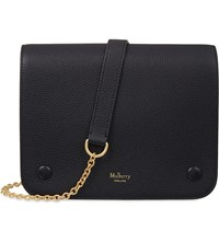 Mulberry Clifton Grained Leather Cross Body Bag Black