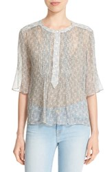 Zadig And Voltaire Women's 'Thai' Print Silk Blouse Jeans