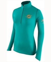 Nike Women's Miami Dolphins Tailgate Element Quarter Zip Pullover Green
