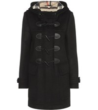 Burberry Finsdale Wool Duffle Coat Black