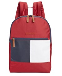 Tommy Hilfiger Colorblock Flag Nylon Backpack Tommy Red