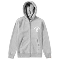 A Bathing Ape College Heavy Weight Full Zip Hoody Grey