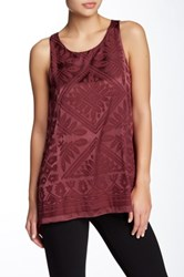 Max Studio A Line Satin Tank Red