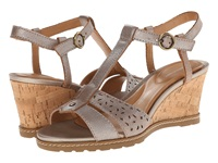 Rockport Garden Court T Strap Alba Valigia Metallic Burnish Women's Sandals Pewter