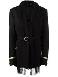 Givenchy Scarf Lapel Flannel Jacket Black