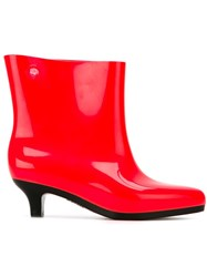 Melissa Jeremy Scott Pointed Toe Ankle Boots Yellow And Orange
