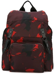 Lanvin Printed Backpack Red