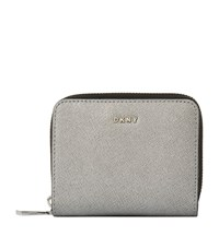 Dkny Bryant Park Saffiano Small Wallet Female Pewter