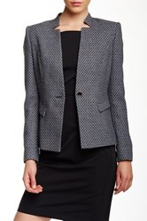 Ted Baker Check Elbow Patch Wool Blend Blazer Blue