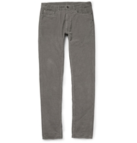 Tomas Maier Slim Fit Corduroy Trousers Gray