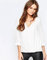New Look Ruched Blouse Cream