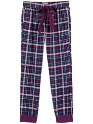 Fat Face Upavon Jacquard Check Cuff Pyjama Bottoms Fig