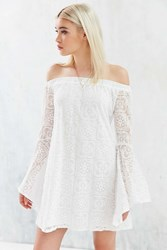 Kimchi And Blue Kimchi Blue Lace Off The Shoulder Bell Sleeve Frock Dress White