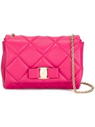 Salvatore Ferragamo 'Vara' Quilted Bag Pink And Purple