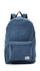 Herschel Packable Canvas Backpack Navy