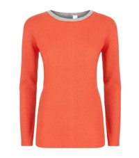 Allude Contrast Front Cashmere Sweater Female Multi