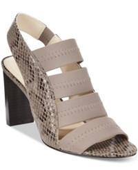 Alfani Women's Rennatah Strappy Slingback Sandals Only At Macy's Women's Shoes Stormy Grey