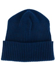 Stella Mccartney Ribbed Beanie Blue