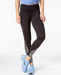 Material Girl Active Juniors' Metallic Graphic Leggings Only At Macy's Black