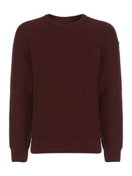 Army And Navy Paolo Crew Neck Claret