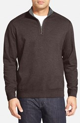 Tommy Bahama Men's 'Flip Side' Reversible Quarter Zip Twill Pullover Old Oak Heather