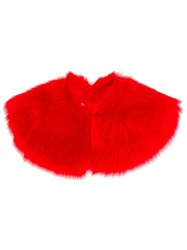 Paul Smith Shearling Stole Red