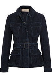 Burberry Belted Suede Jacket