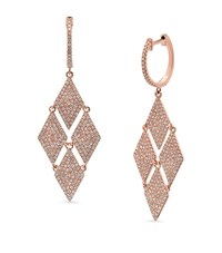 Kenza Lee Chandelier Drop Earrings Female Rose Gold