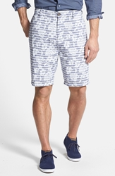 Rodd And Gunn 'Steere Place' Slim Fit Linen And Cotton Chambray Shorts